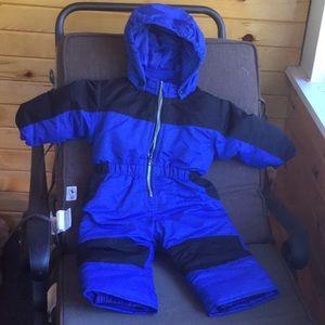 HealthTex Snowsuit royal blue and black 18 months